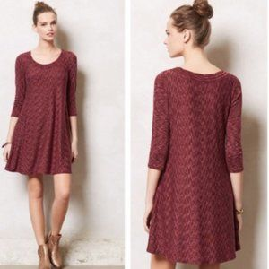 Anthropologie 3/4 Sleeve Narva Swing Dress